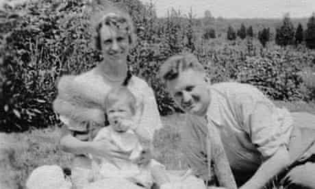 Poet Sylvia Plath with her parents