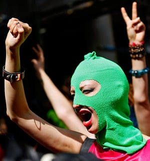 Pussy Riot Protests: International protest in support of punk band Pussy Riot