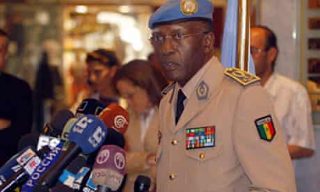 General Babacar Gaye, head of the UN supervision mission in Syria