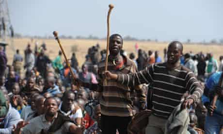 Striking South African miners, Marikana mine 18/8/12