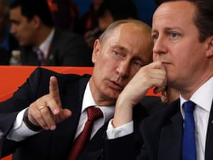 Putin and Cameron watched judo together at the Olympics after discussions on Syria in Downing Streets.  Photo Paul Sancya/AP