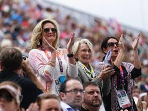Ann Romney applauds her horse Rafalca