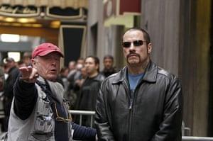 Tony Scott: With John Travolta filming The Taking of Pelham 123, 2008