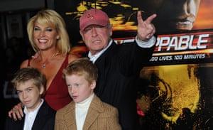 Tony Scott: Tony Scott arriving with his family