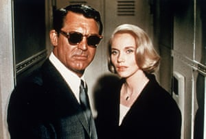 Hitchcock fashion: North By Northwest starring Cary Grant and Eva Marie Saint, 1959