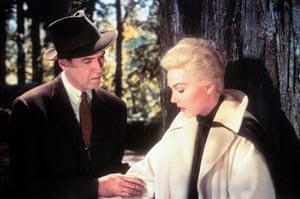Hitchcock fashion: James Stewart & Kim Novak in Vertigo (1958)