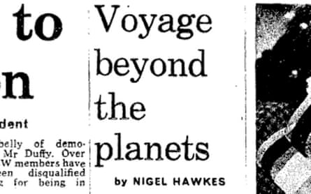Observer article on Voyager 2 launch 1977