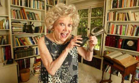 Phyllis Diller at home