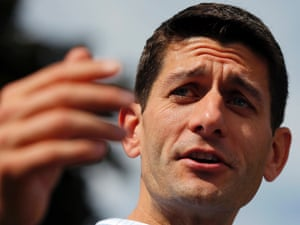 U.S. Republican vice-presidential candidate, Representative Paul Ryan (R-WI) speaks during a town hall meeting in Manchester, New Hampshire August 20, 2012.
