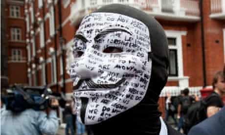 Anonymous hacking Julian Assange