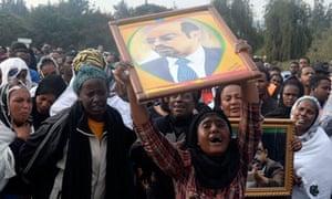 Meles Zenawi mourners