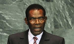 Equatorial Guinea's president Teodoro Obiang Nguema Mbasogo
