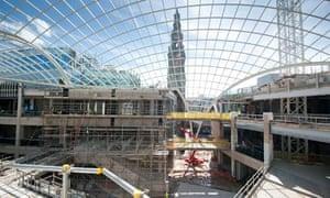 Trinity Leeds shopping mall under construction