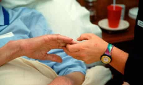 elderly man hospice