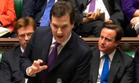 George Osborne David Cameron in London
