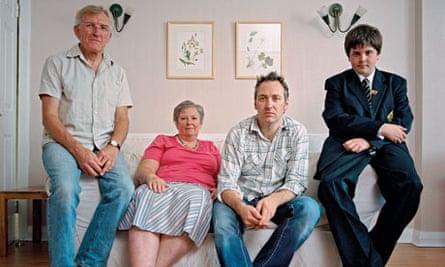 Generation boomerang: Gareth Johnson with parents Carl and Eunice, andnephew Seth