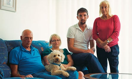 Generation boomerang: Michelle Nicoll, with husband David and parents Keith and Jan
