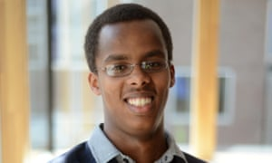 Mohammed Hashi after getting his GCSE results on 23 August 2012. Photograph: Anthony Devlin/PA