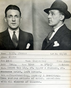 1930s Police mugshots: A mug shot comes from a police identification book