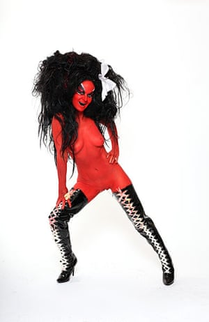 Meltdown: Kembra Pfahler of glam-punk band the Voluptuous Horror of Karen Black