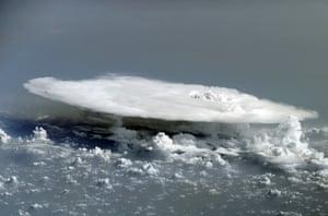 Clouds: Cumulonimbus cloud over western Africa