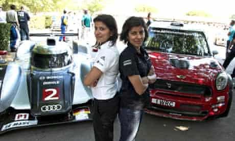 Motorsport sisters Teena and Leena Gade