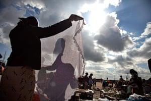 Adolphus: Used clothing market in Shawarma slum, Zambia