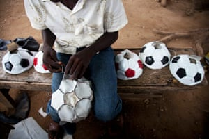Adolphus: A young boy making soccer balls in northern Nigeria