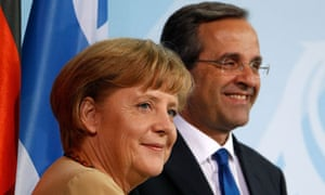 Angela Merkel and Antonis Samaras in Berlin