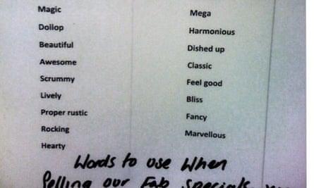 Jamie Oliver list