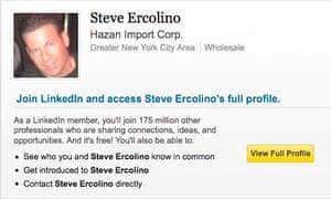 Shooting victim Steve Ercolino's LinkedIn page.