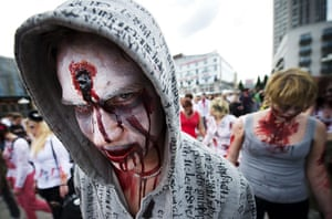 Zombie walk: Stockholm's streets are filled with ghoulish characters