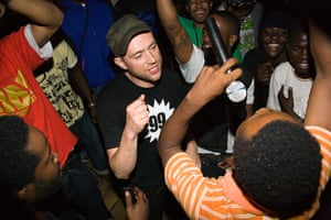 Africa Express: Damon Albarn and Hypnotic Brass in amongst the crowd