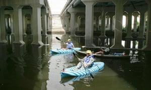 Kayakers in Los Angeles