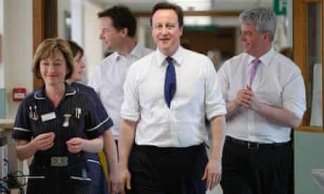 Prime Minister David Cameron and Nick Clegg Speak With NHS Staff In Surrey