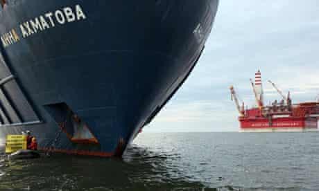 Greenpeace activists Pechora Sea