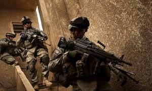 US soldiers on patrol in Baghdad