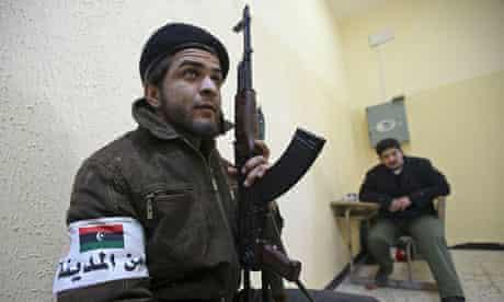 Libyan rebel militiaman