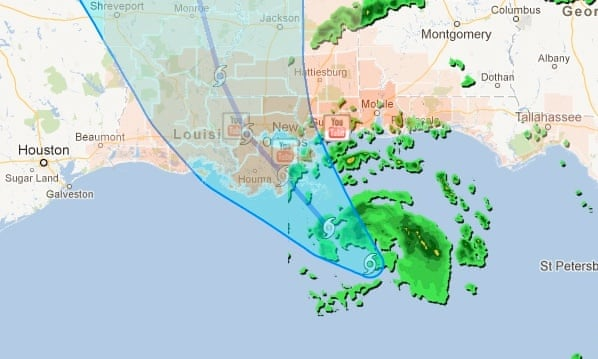 Hurricane Isaac prepares to make landfall in Gulf Coast – as