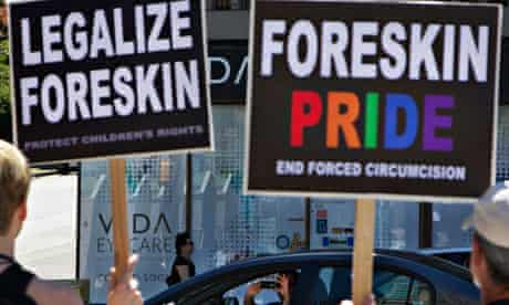 Protesters against male circumcision