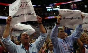 """We Built It"" signs at the RNC in Tampa"