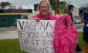 Code Pink protester, Tampa RNC 2012