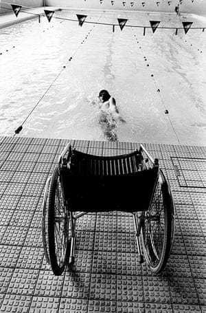 GNM Archive Paralympics: Swimmer at the Stoke Mandeville Games