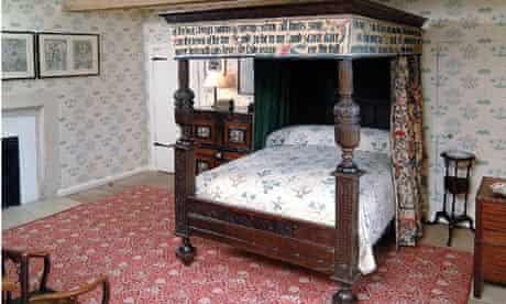 William Morris's four-poster bed