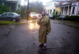 Isaac update: Henry Tabbe checks out the damage as Hurricane Isaac pushes