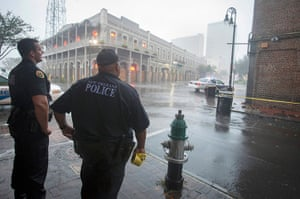 Isaac update: Police stand watch over a French Quarter intersection, New Orleans