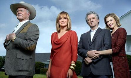 JR Ewing, Sue Ellen, Bobby Ewing and Ann Ewing in the rebooted Dallas