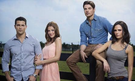 Jesse Metcalfe, Julie Gonzalo, Josh Henderson and Jordana Brewster in the Dallas reboot