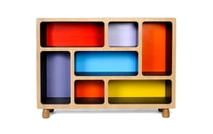 Homes: London Design: Multi-coloured sideboard