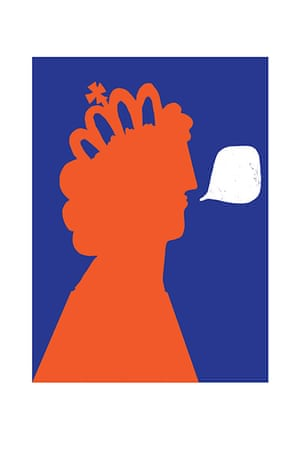Homes: London Design: Print of the Queen by illustrator Mark McGinnis